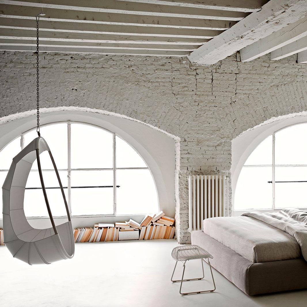 White textured walls