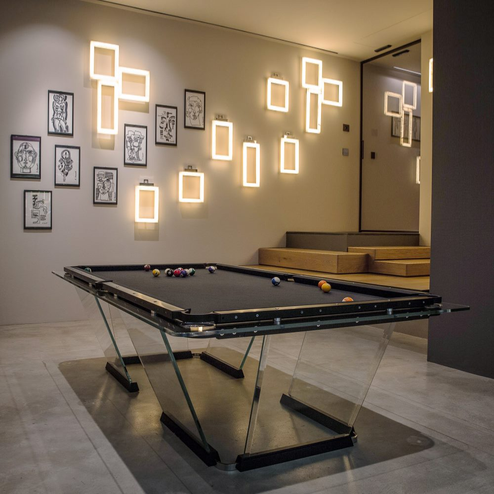 Teckell Glass Pool Table