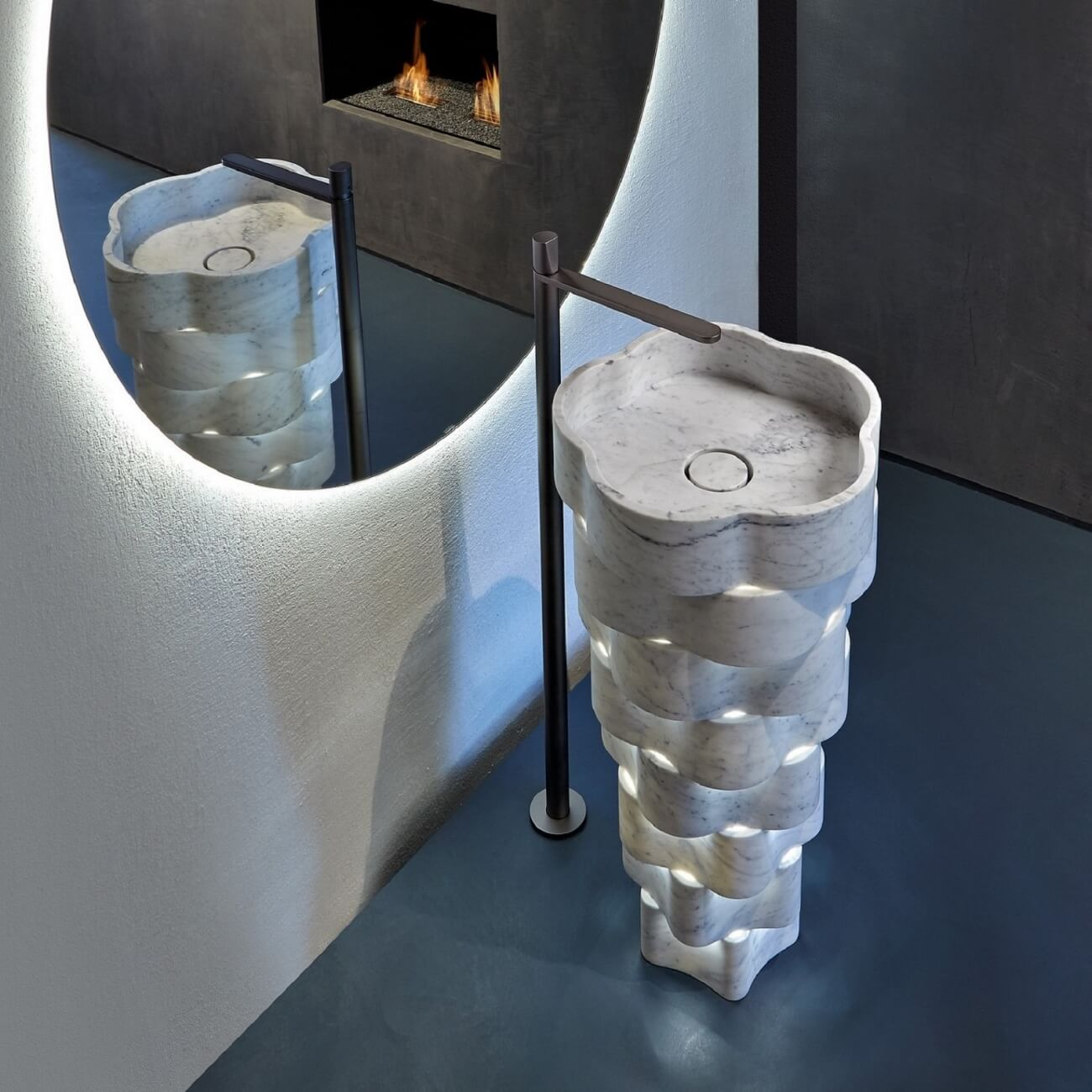 Marble Freestanding Washbasin