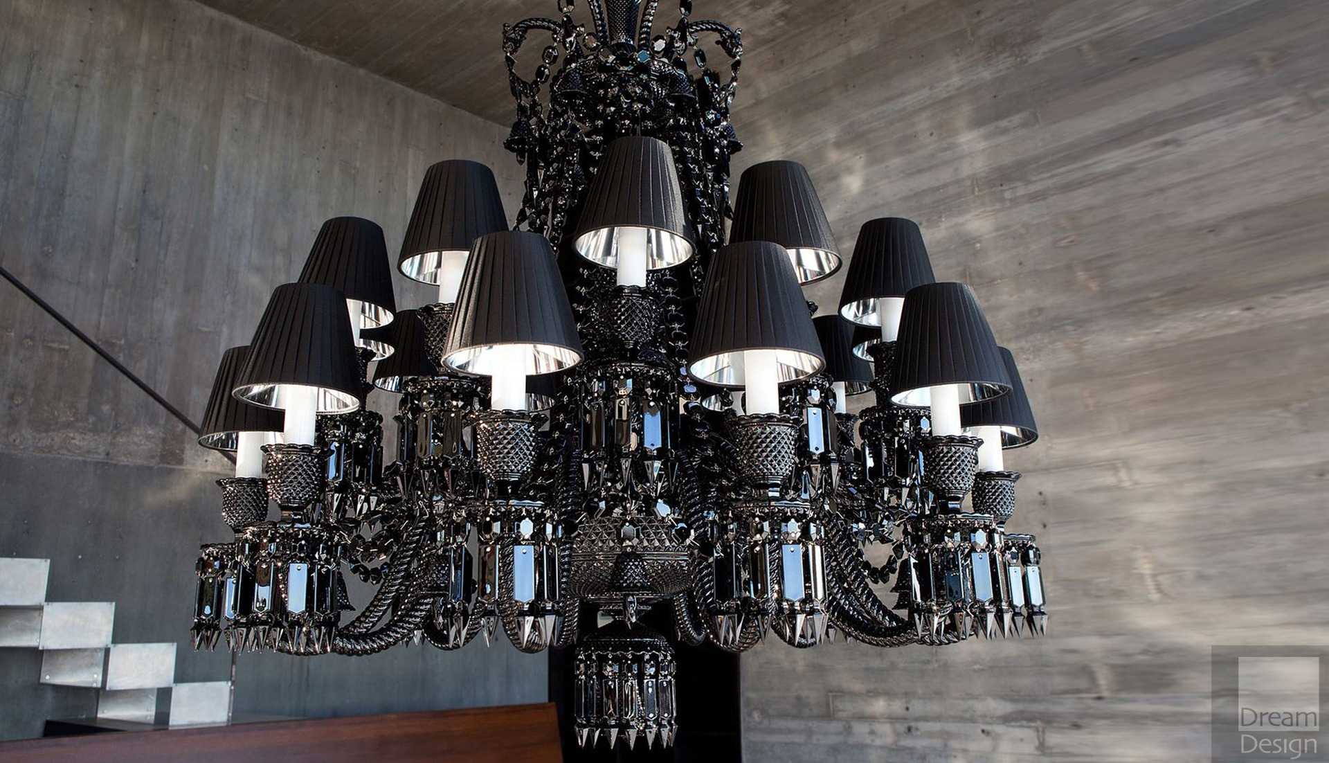 Previous; Next & Baccarat Zenith Noir Chandelier (24 lights) - Dream Design Interiors Ltd
