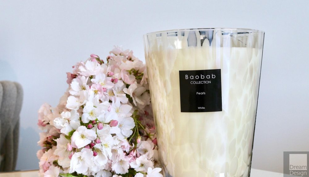 Baobab Pearls Scented Candle – White Pearls