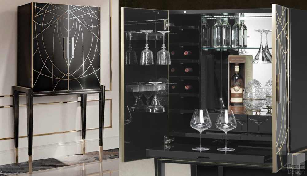 Reflex Angelo Belle Epoque Bar Cabinet