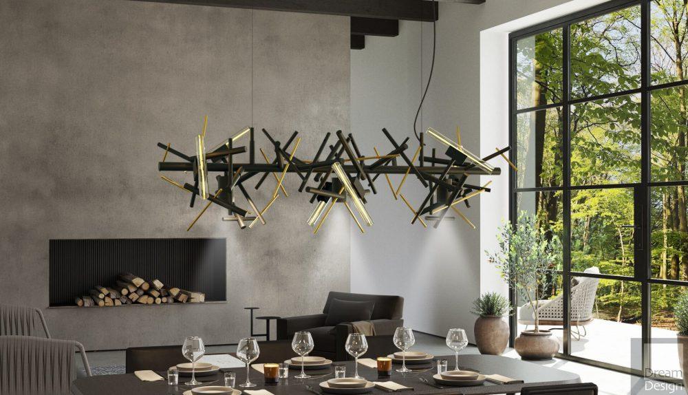 Brand Van Egmond Linea Horizontal Hanging Lamp