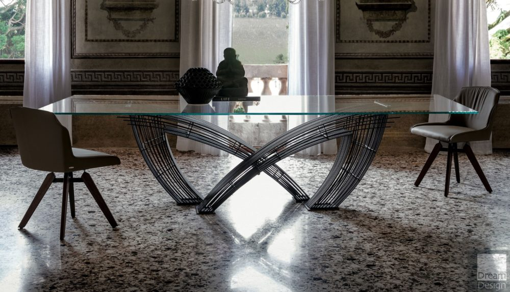 Cattelan Italia Hystrix Glass Table