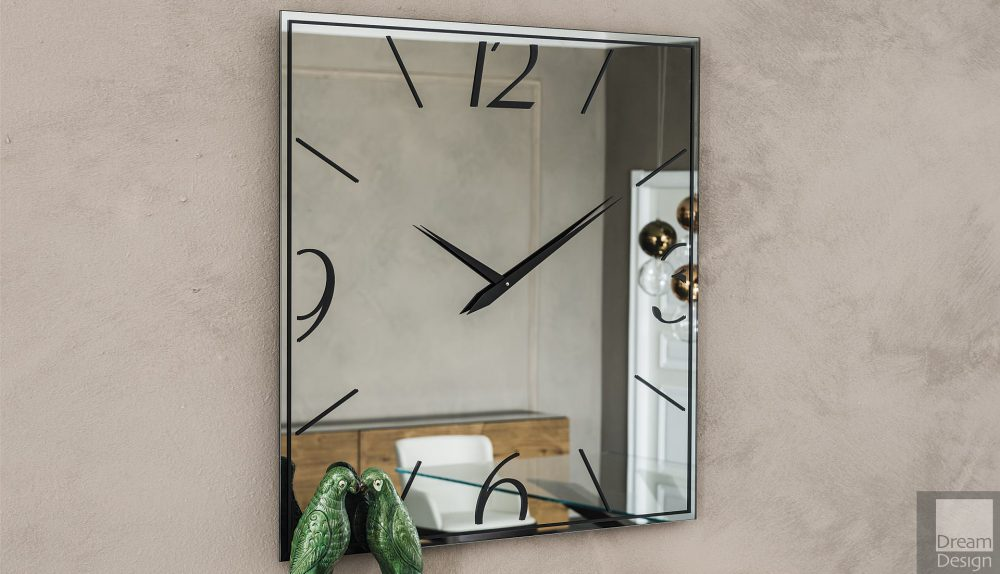 Cattelan Italia Moment Square Mirror Clock