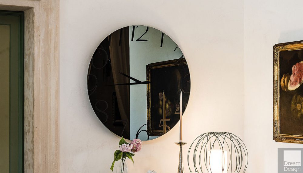 Cattelan Italia Moment Round Mirror Clock