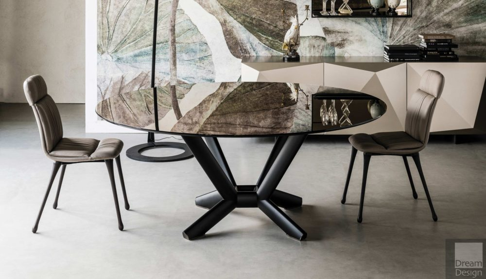 Cattelan Italia Planer Round Glass Table