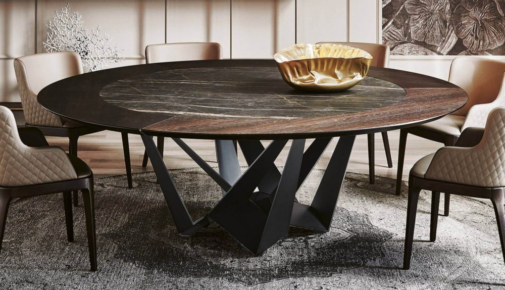 Cattelan Italia Skorpio Round Ker-Wood Table