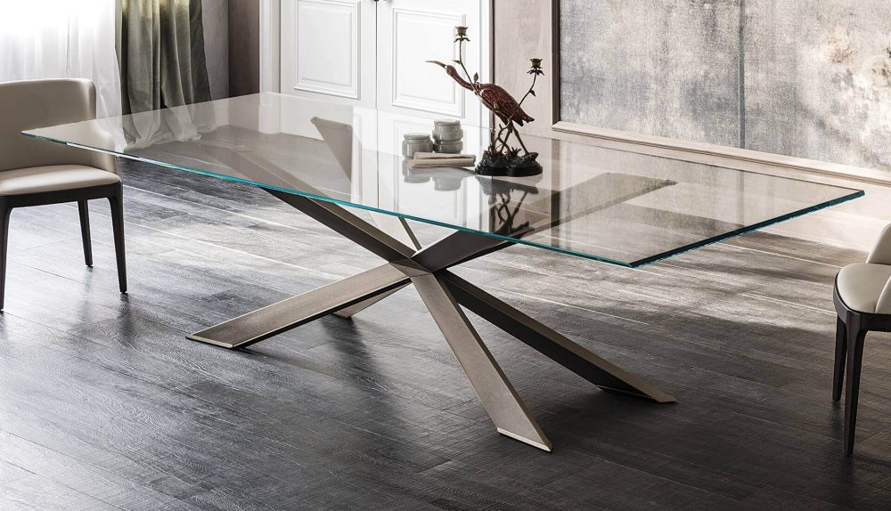 Cattelan Italia Spyder Glass Table