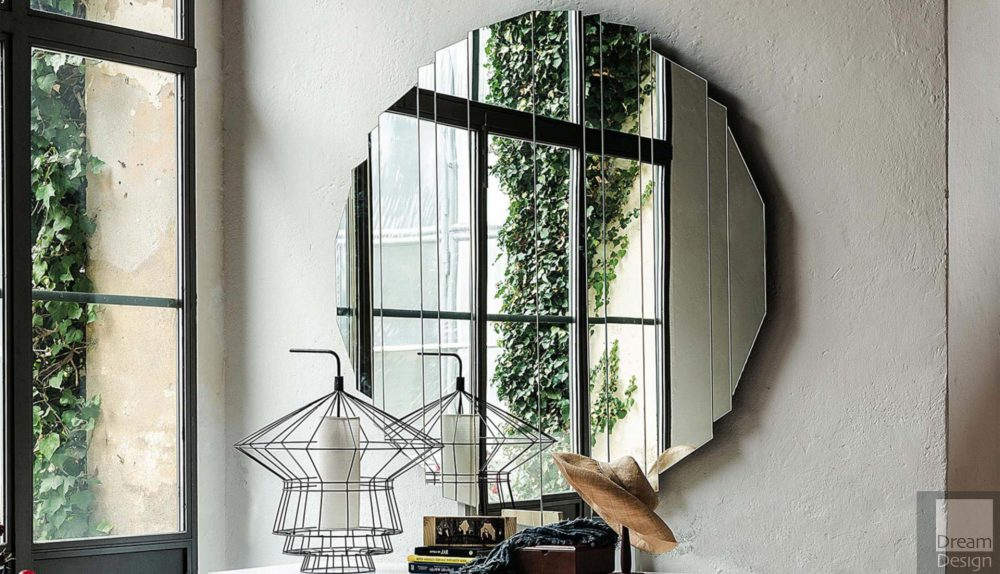 Cattelan Italia Stripes Round Mirror