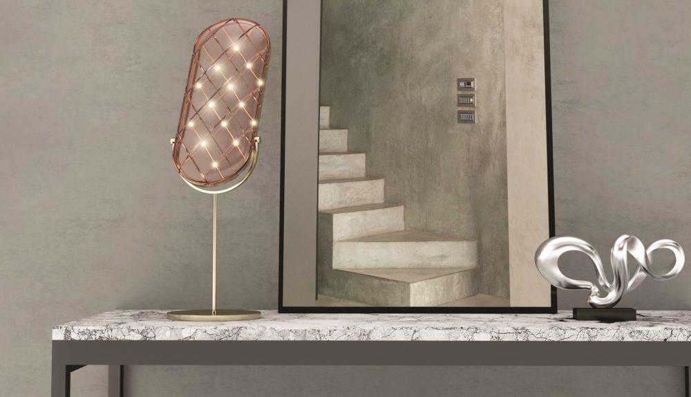 Contardi Crystal Large Table Lamp