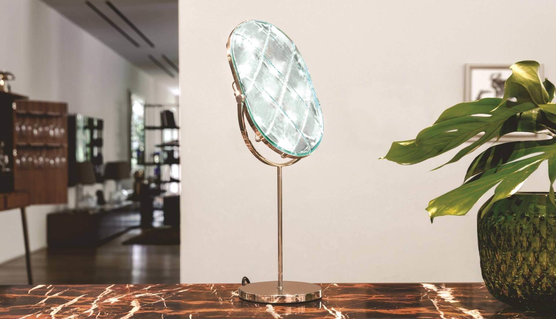 Contardi Crystal Small Table Lamp