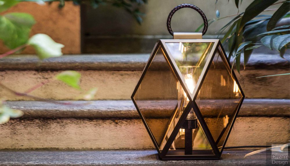 Contardi Muse Outdoor Lantern – Bronze