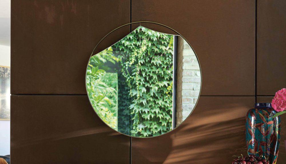 Fiam Pinch Round Mirror