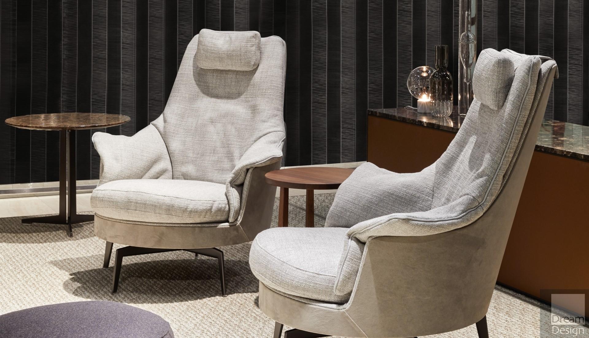 Flexform Guscioalto Light Armchair Dream Design