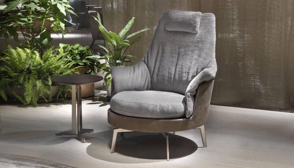 Flexform Guscioalto Light Armchair