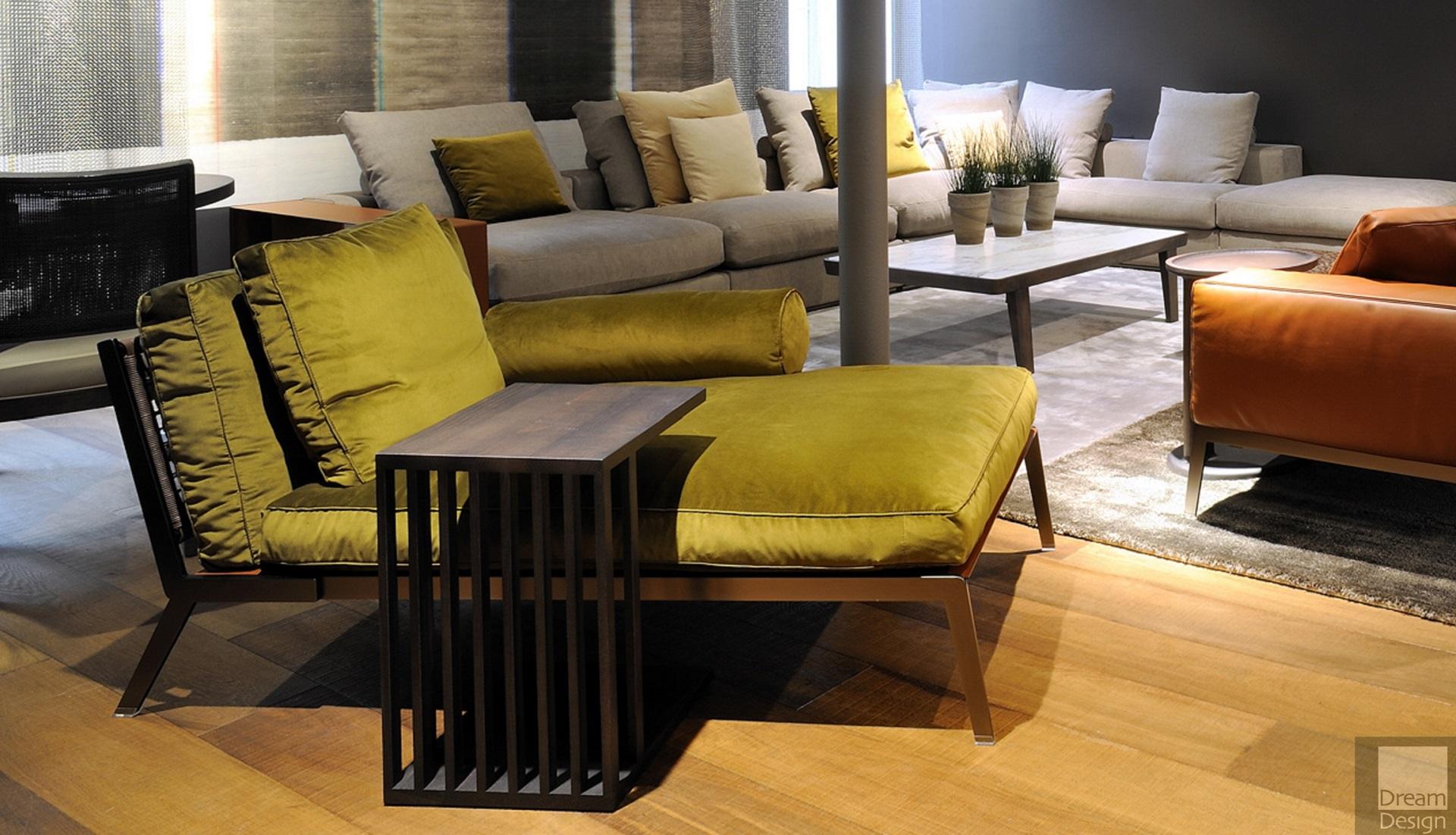 Flexform happy chaise longue dream design interiors ltd - Chaise longue design ...