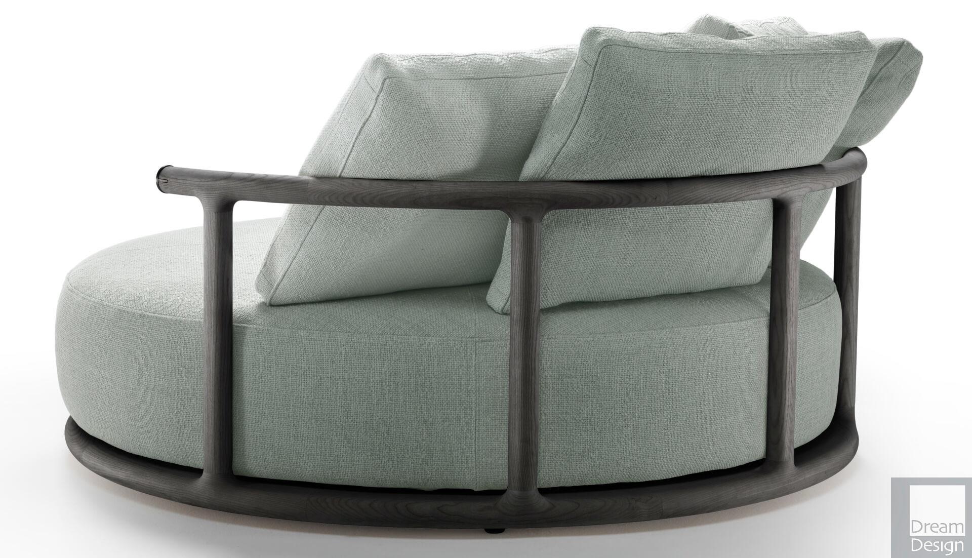 Flexform Mood Icaro Round Sofa