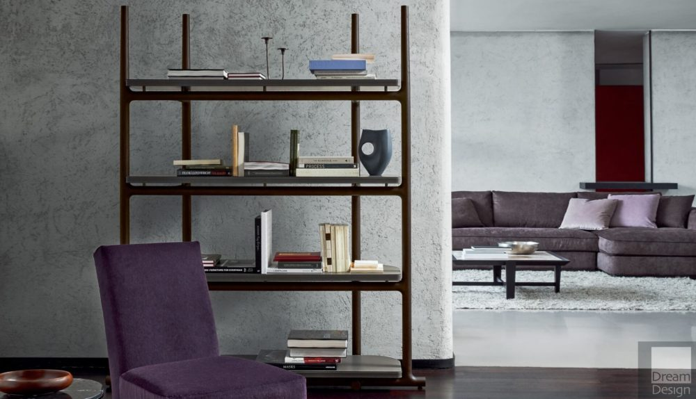 Flexform Mood Icaro Book Shelving