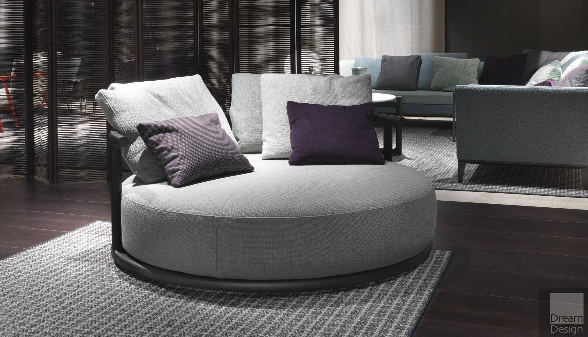 Flexform Mood Icaro Round Sofa Dream Design Interiors Ltd