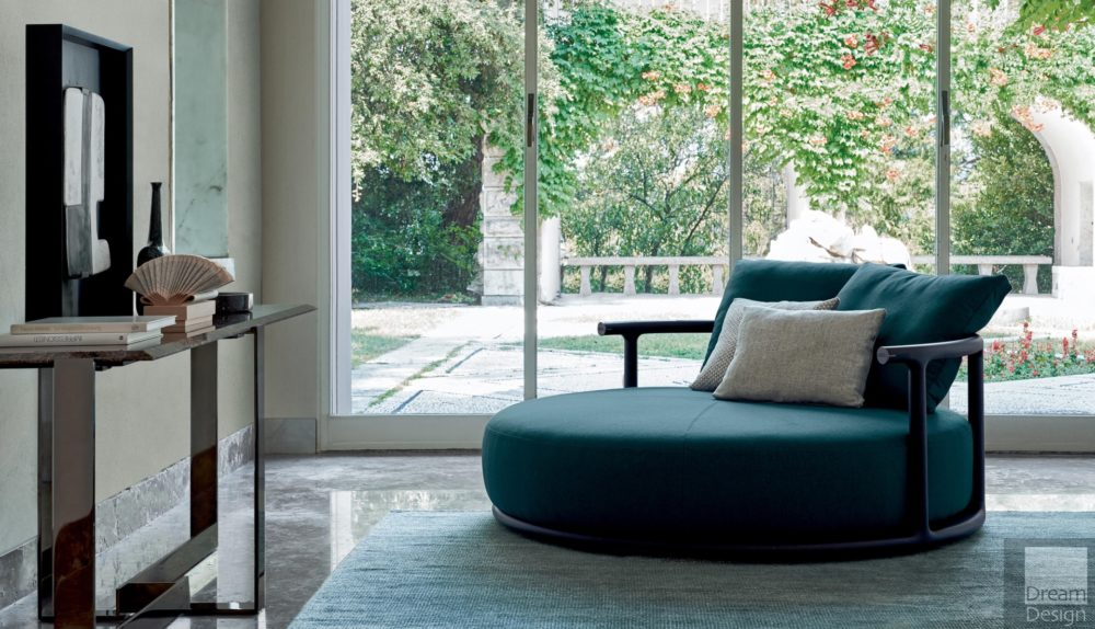 Flexform Mood Icaro Round Sofa
