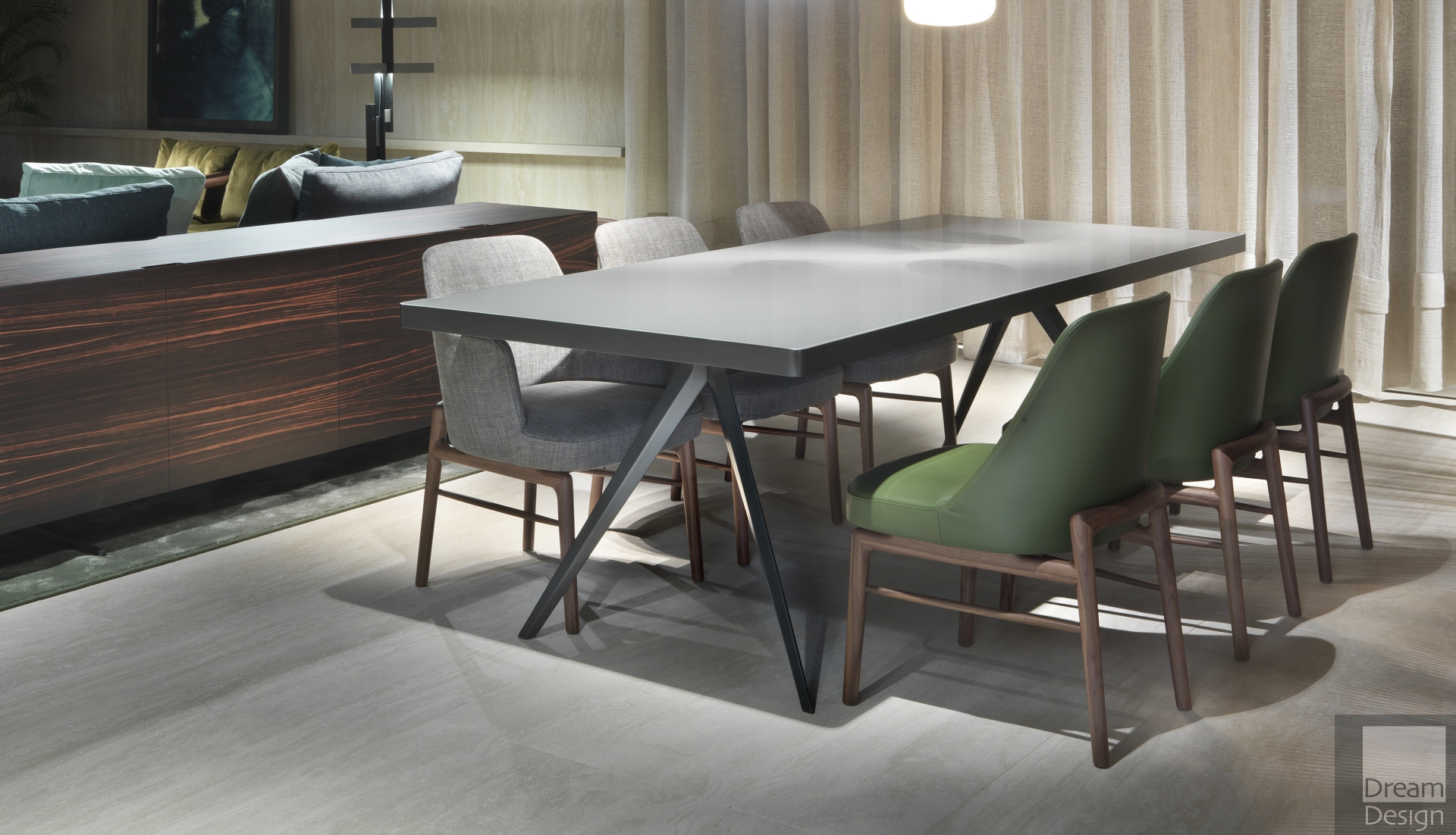 Flexform Zefiro Rectangular Table - Dream Design Interiors Ltd