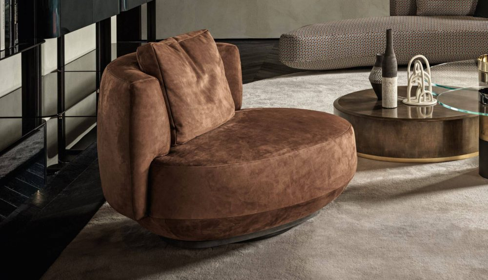 Gallotti&Radice Audrey Poltrona Swivel Chair