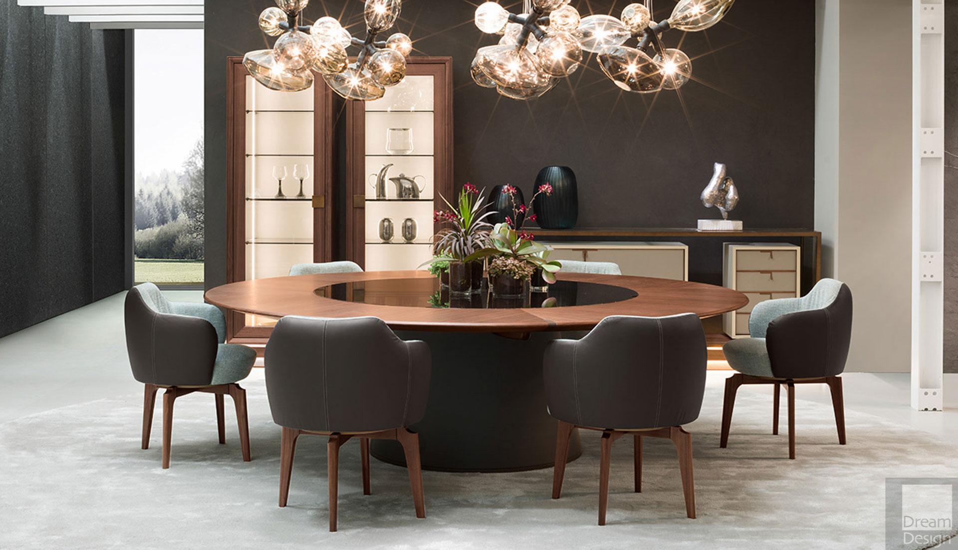Giorgetti Fang Round Table Dream Design Interiors Ltd
