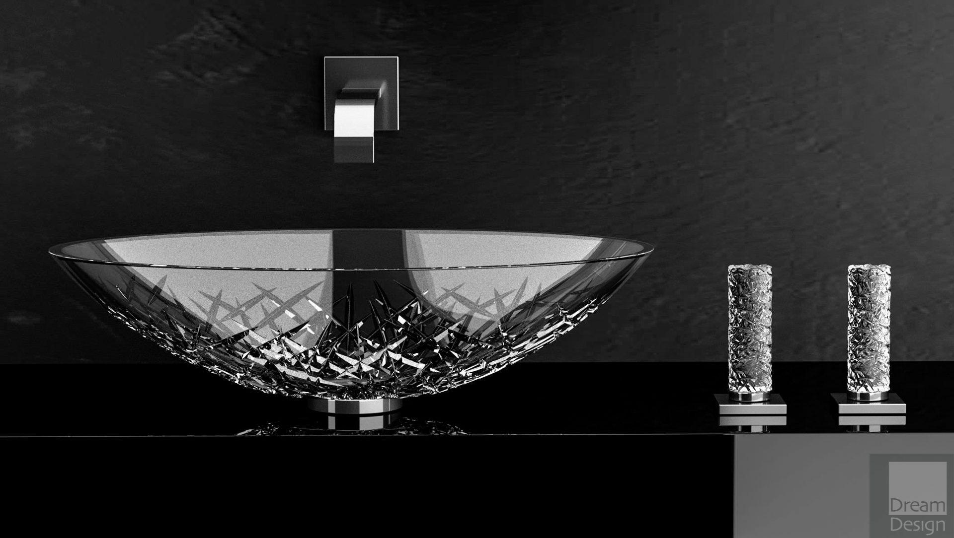 Glass Design Ice Oval Basin