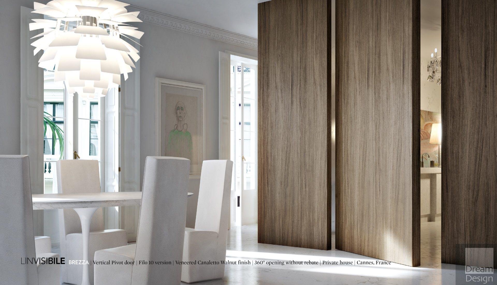 Linvisibile Brezza Filo 10 Vertical Pivot Doors