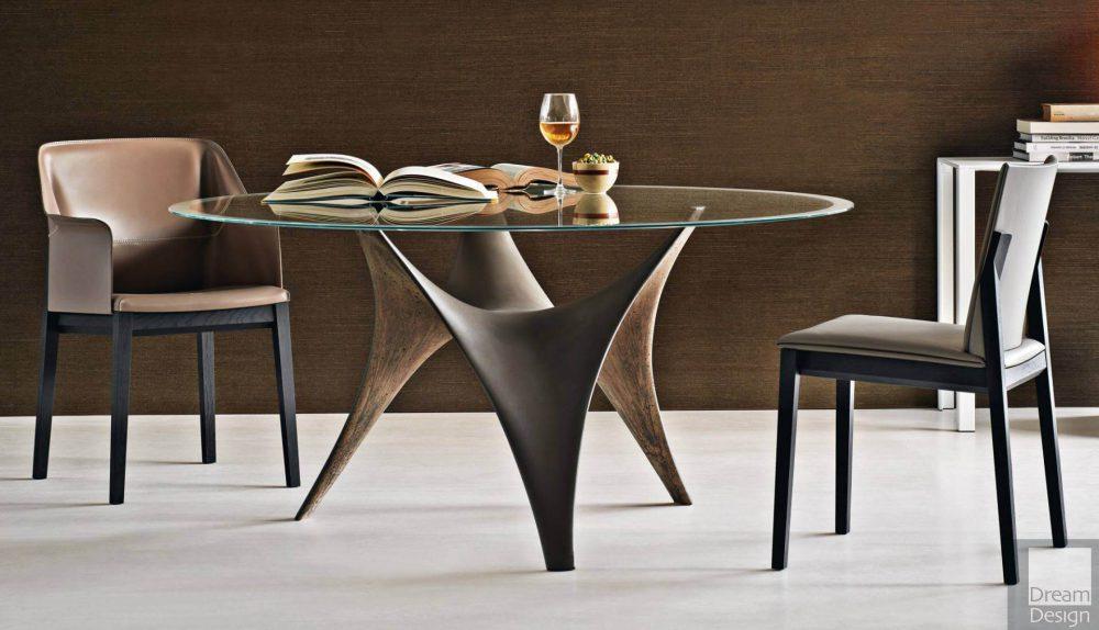 Molteni&C Arc Round Glass Table