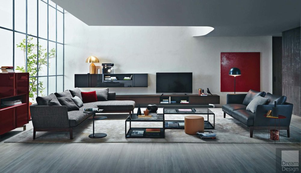 Molteni&C Chelsea 2-Seater Sofa