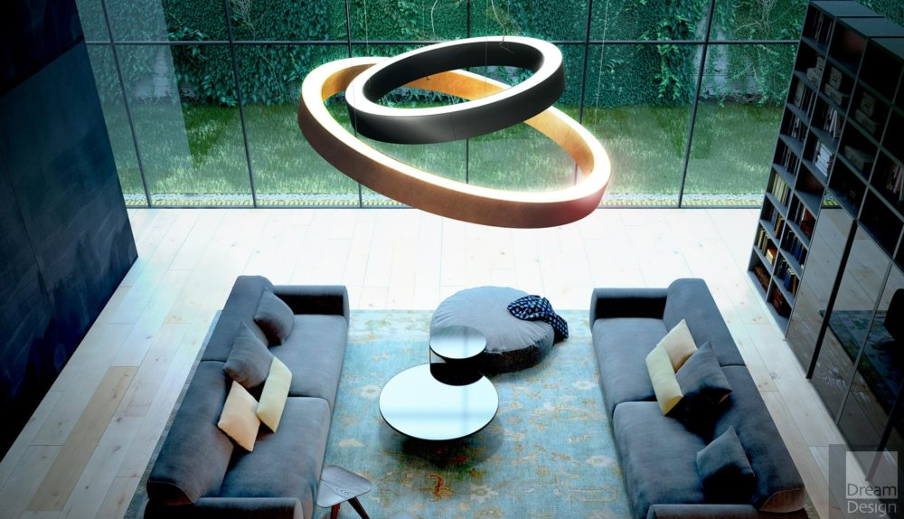 Panzeri Golden Ring Suspension Light