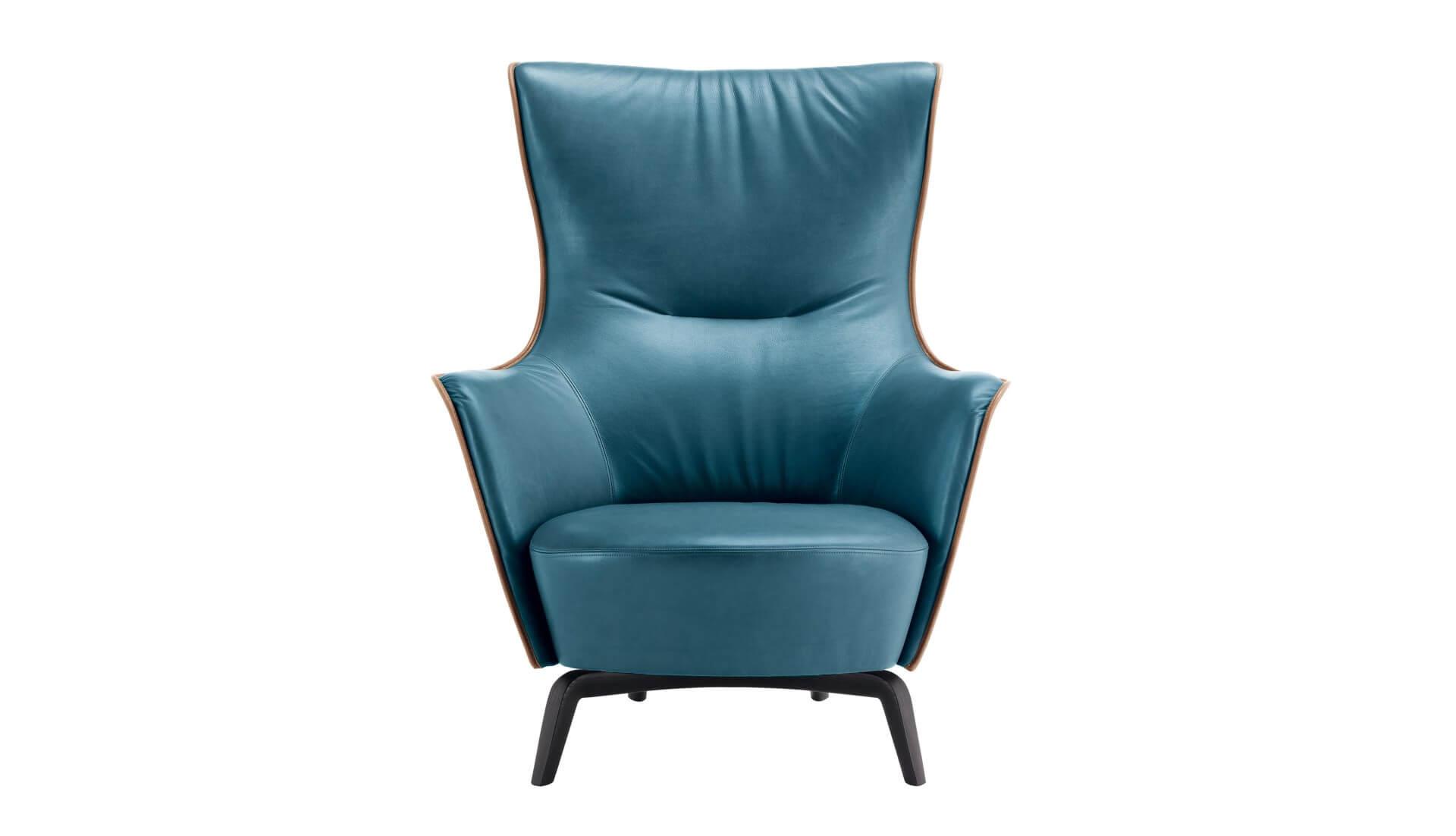 Poltrona Frau Mamy Blue Armchair