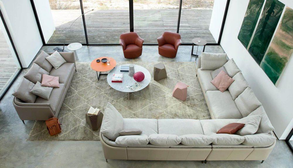 Poltrona Frau Bretagne Modular Sofa