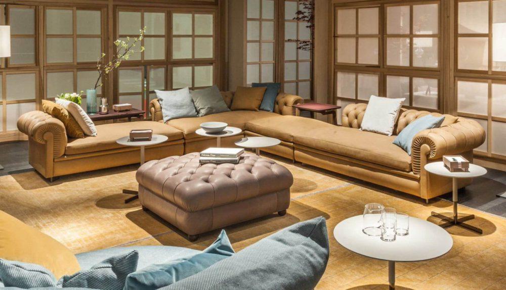 Poltrona Frau Chester Line Modular Sofa