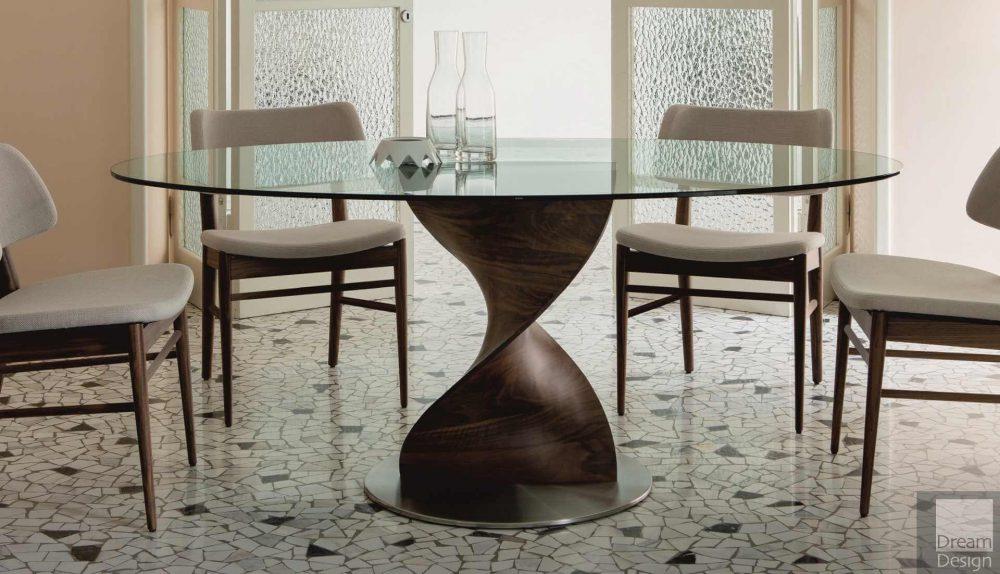 Porada Elika Round Glass Table