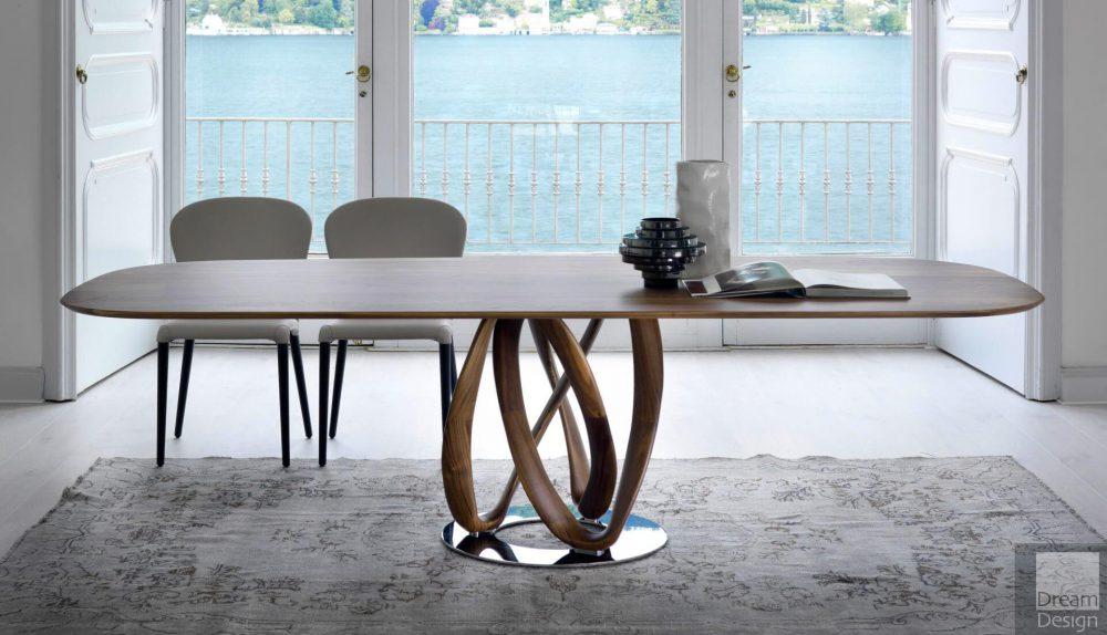 Porada Infinity Oval Wood Table