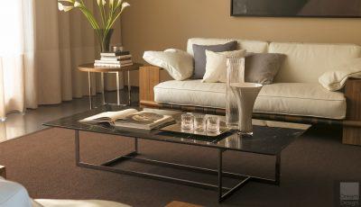 Der Kompakte Beistelltisch Im Wohnzimmer Platzsparende Designs