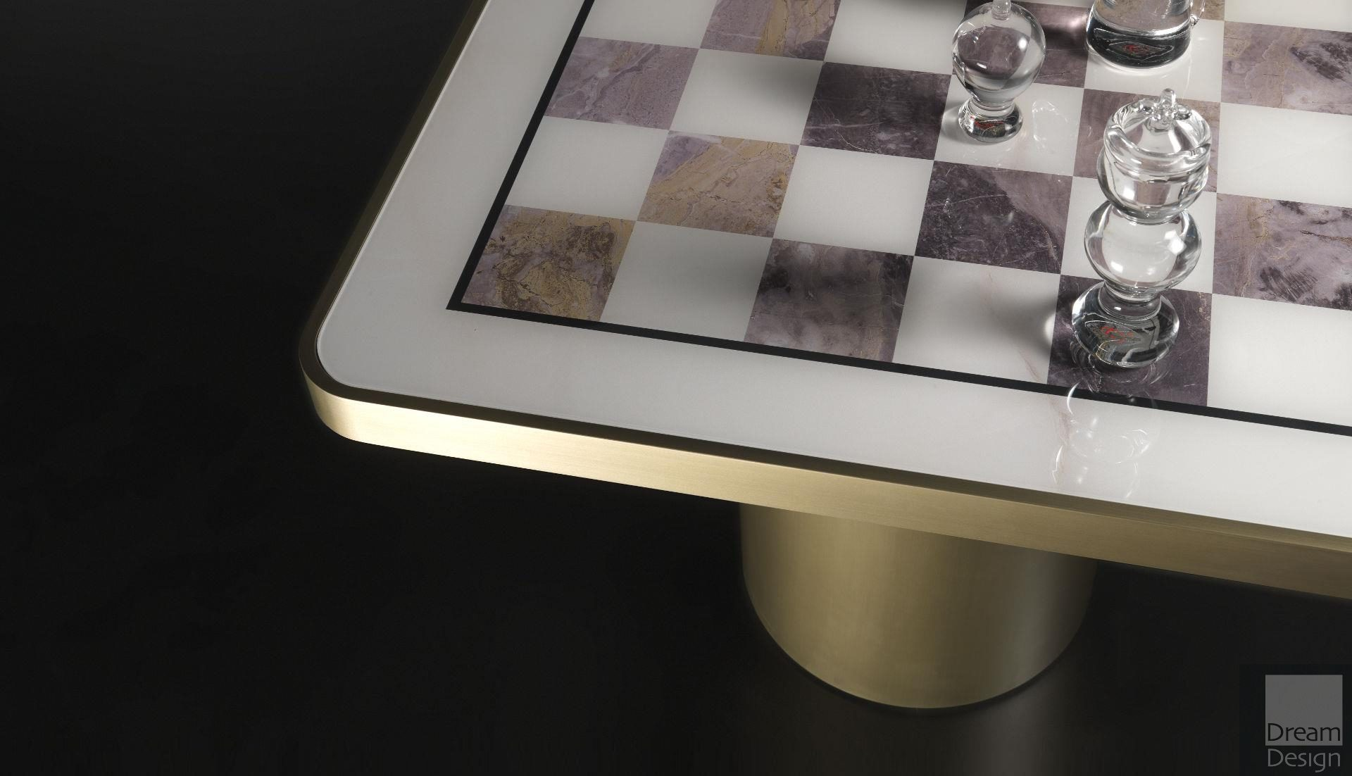 Reflex Angelo Tau 40 Steel Scacchi Chess Game Table