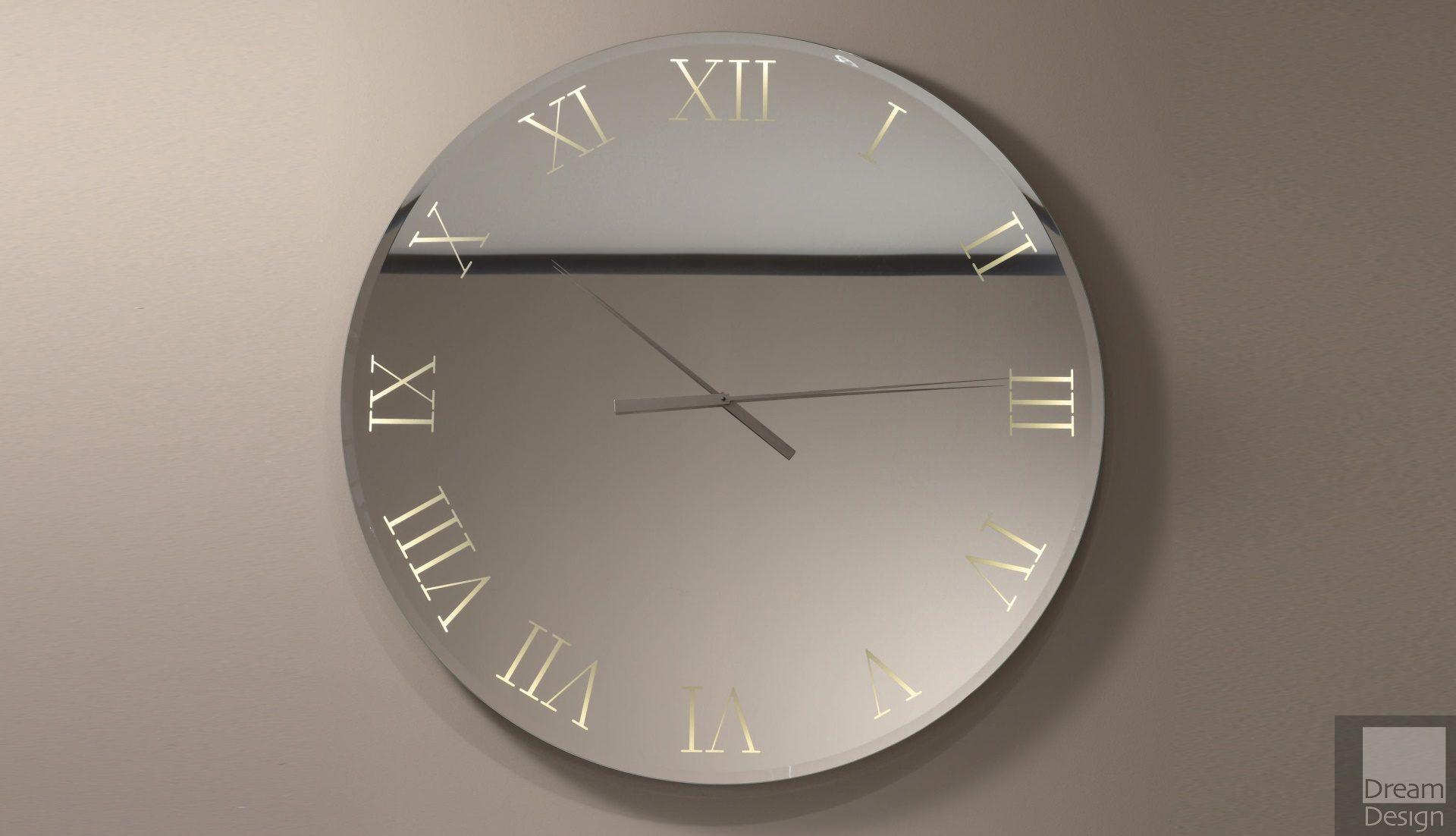 Reflex Angelo Titanium Mirror Clock