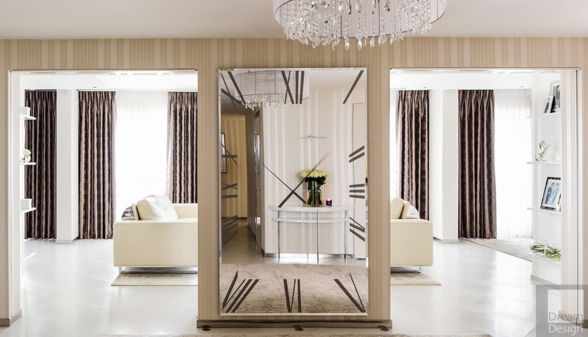 Reflex Angelo Titanium Rectangular Mirror Clock