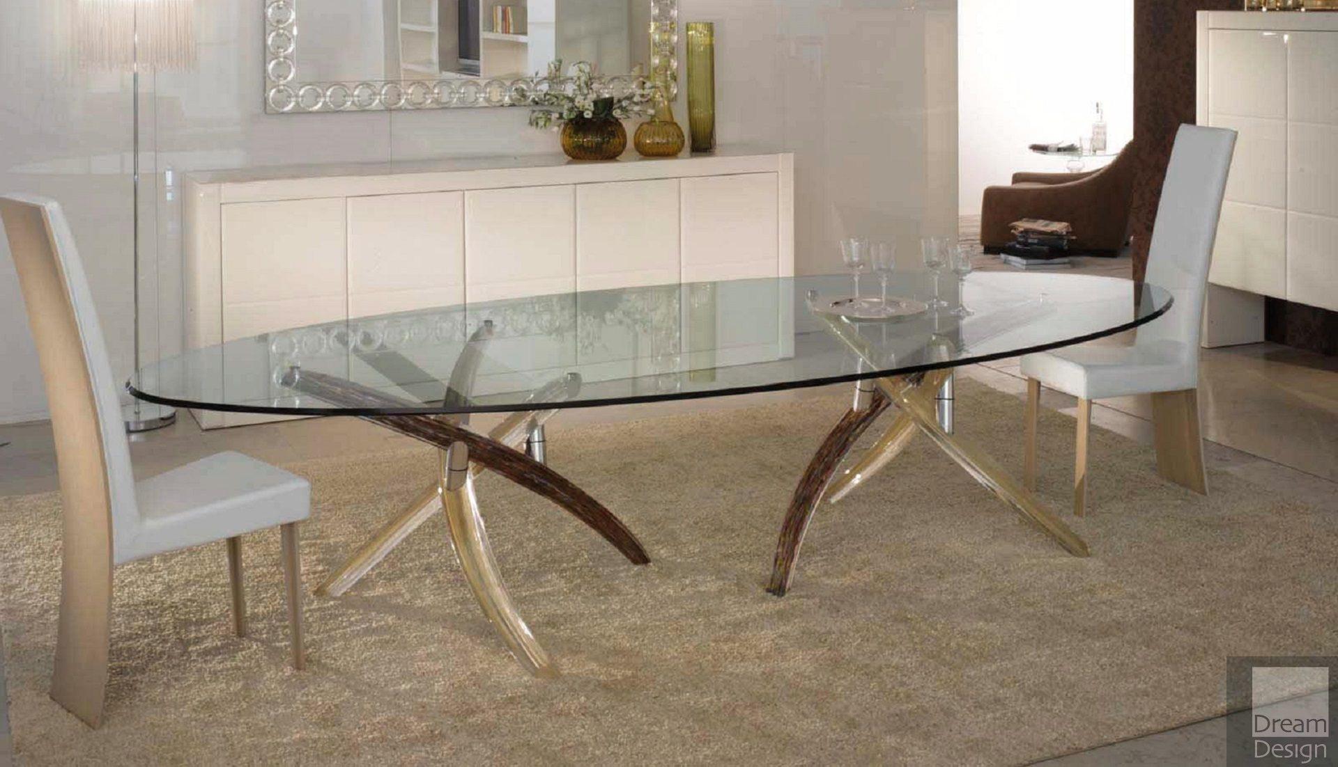 Reflex Angelo Fili D'erba Two Base Oval Table
