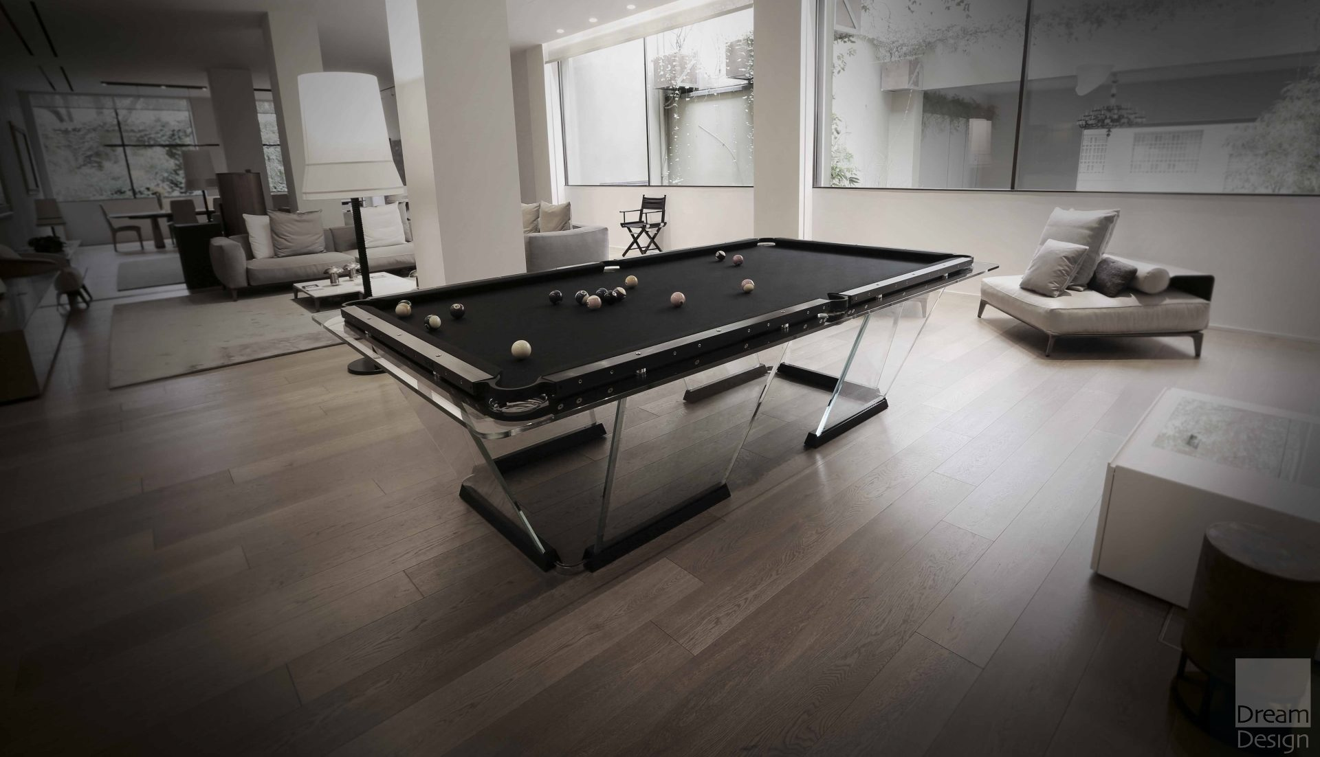 Teckell T1.1 Black Pool Table